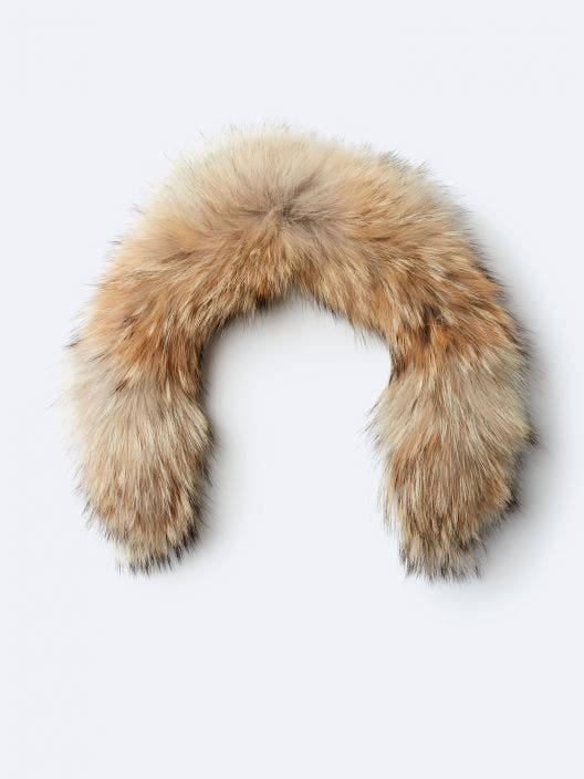 Gold fur with zipper