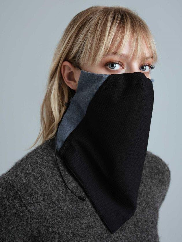 Masque Cache-cou avec filtre-bleu-acier-S