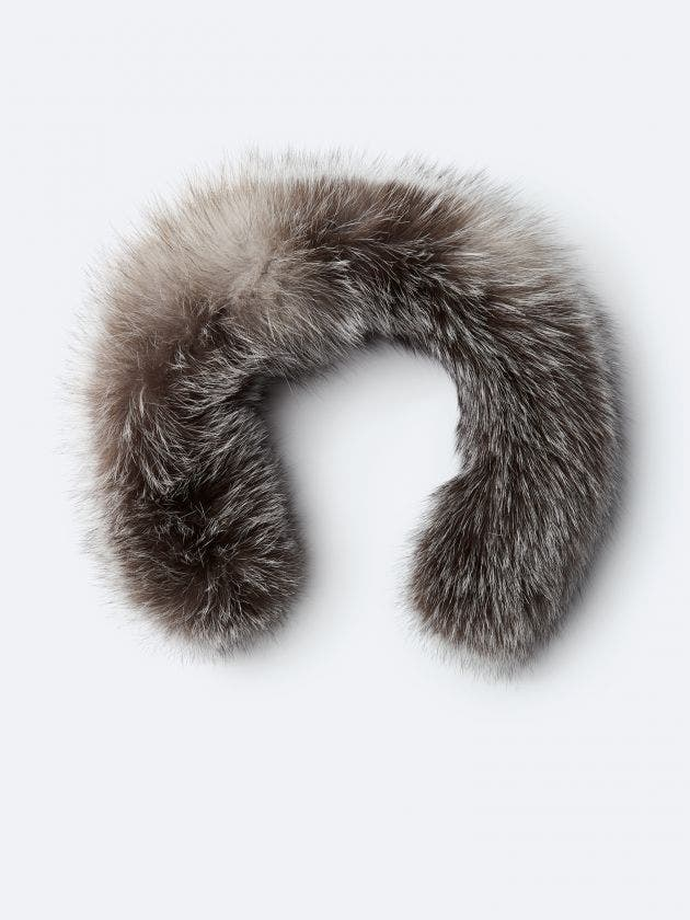 Silver fur with zipper