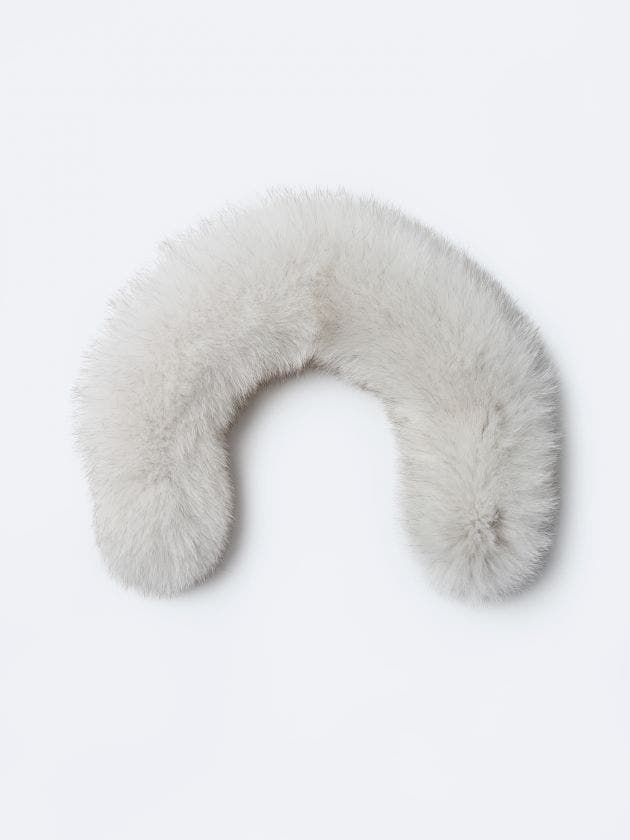 Withe fur with zipper