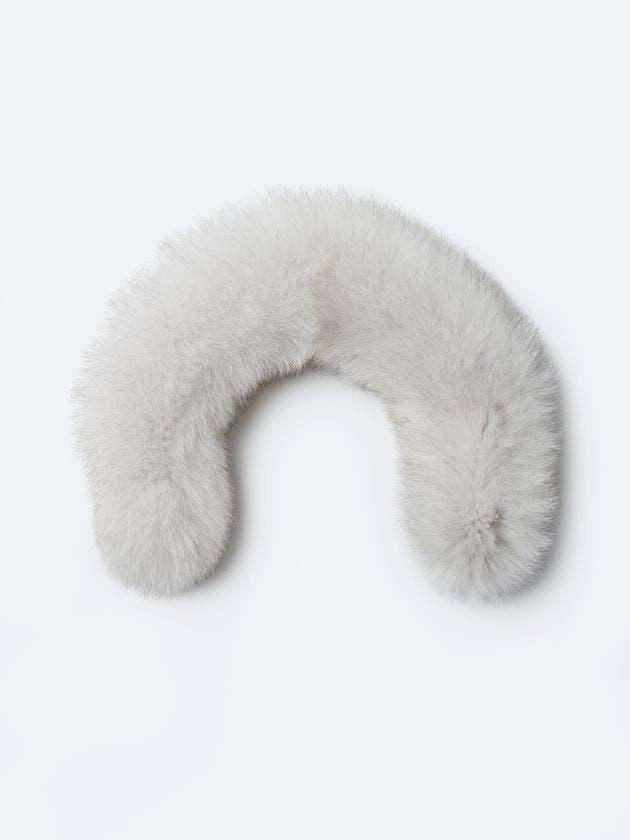 Fourrure blanche - fermeture à glissière