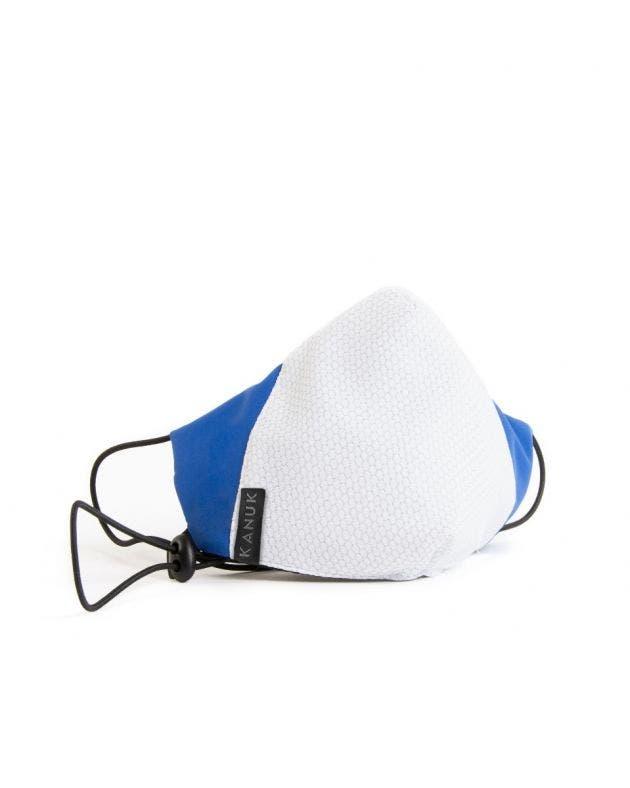 Masque Fil d'argent adulte-blanc-bleu-royal-S/M
