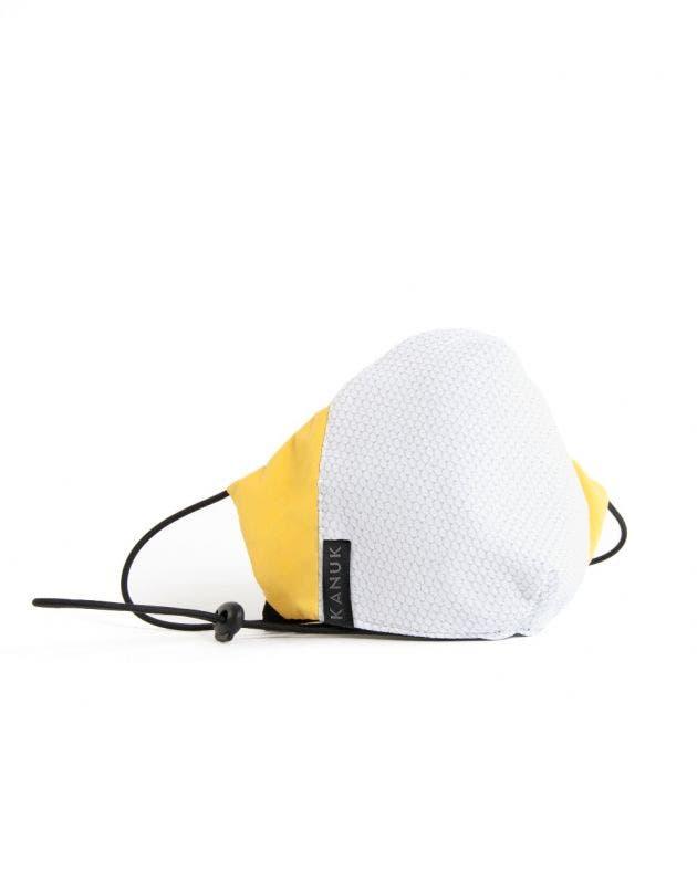 Masque Fil d'argent adulte-blanc-jaune-S/M