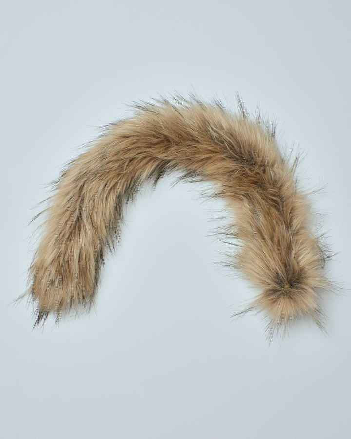 Gold SYNTHETIC FUR WITH ZIPPER 23 inche